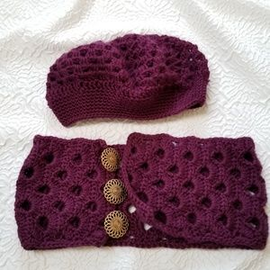 Accessories - Handmade Crochet Scarf and Hat Set